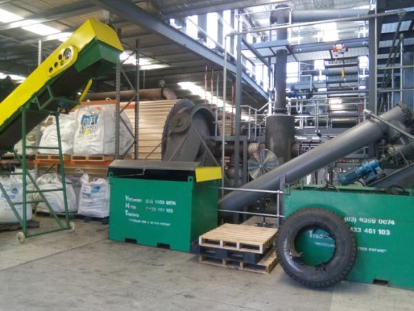 連續式廢輪胎熱裂解設備